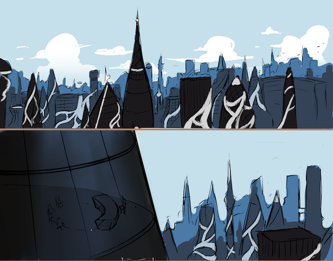 Backgrounds - skyline, colored