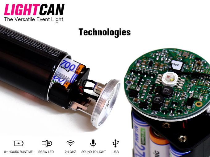 Lightcan World S First Led Party Light In A Beverage Can