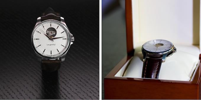 Langenthal watch in box