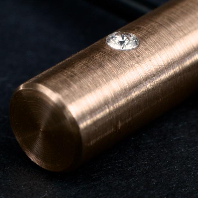 Rose gold pendant close-up