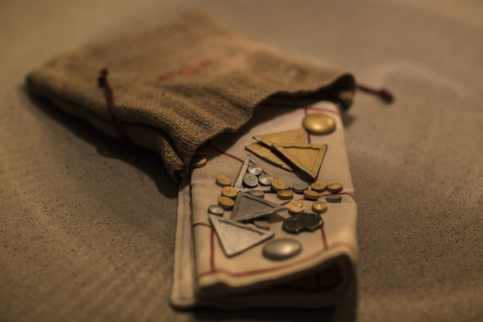 HIRÞ with bag  (The game in the picture is a prototype.)