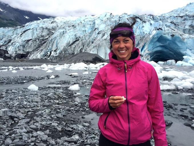 Mid-day Snack Break at Shoup Glacier