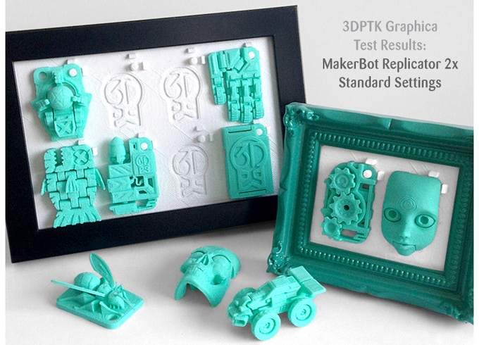 3D Printer Test Kit: Graphica is a series of 12x 'Challenge Tests' that all feature print-in-place moving parts.