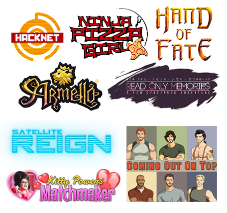 Some of the cool games you can get with your pledge: Armello, Ninja Pizza Girl, Hacknet, Hand of Fate, Read Only Memories, Satellite Reign, Kitty Powers' Matchmaker and Coming Out On Top!