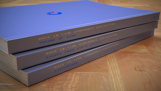 The paperback score book set (render by Thomas Koch)
