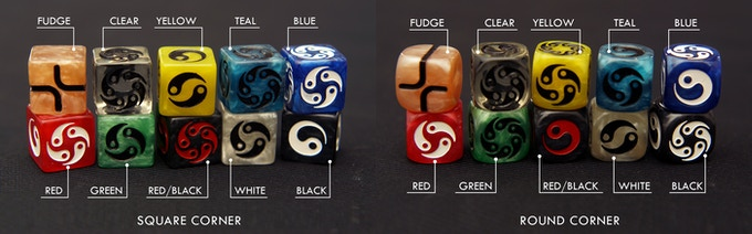 Available Zen Dice selection