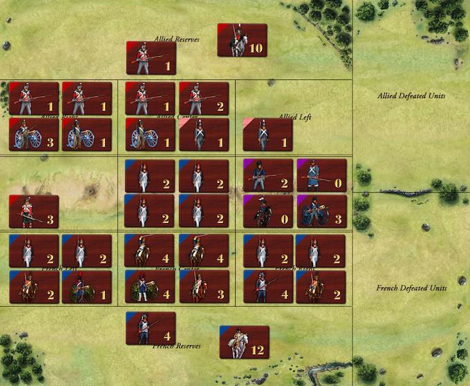 Land battle in progress