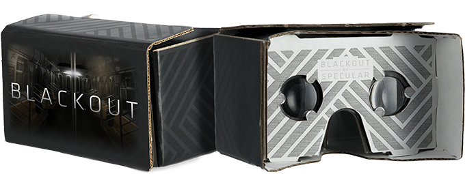 Blackout branded Google Cardboard