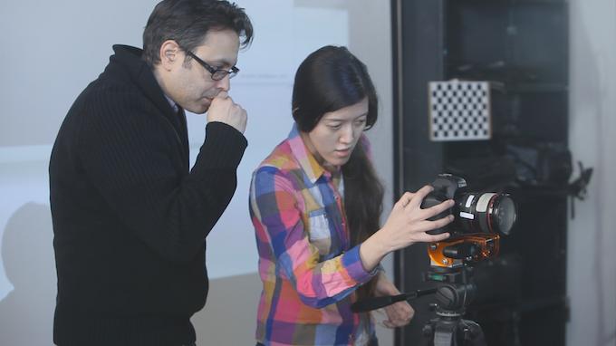 Participants at a past DepthKit workshop at Eyebeam.