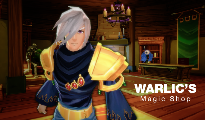 Warlic's Magic shop is full of surprises... we recommend checking out the fireplace.