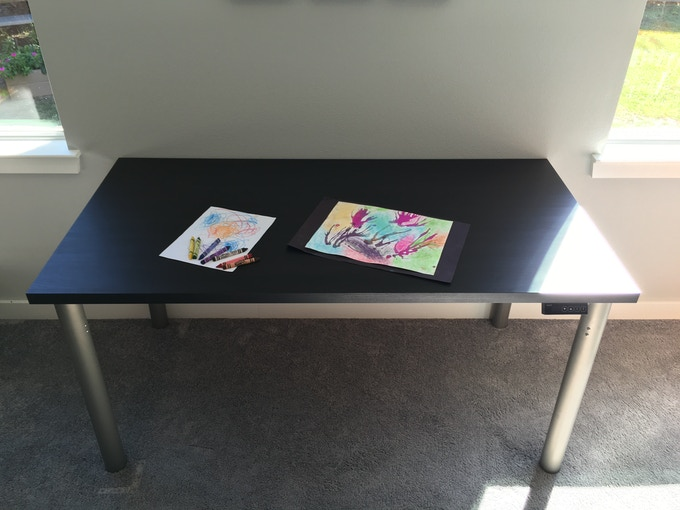 Our StandiT kit is compatible with the following Ikea table top: LINNMON, GERTON, TORNLIDEN, HISSMON, HILVER, KLIPMAN (the drill pattern for the StandiT leg is compatible with the Ikea pattern)