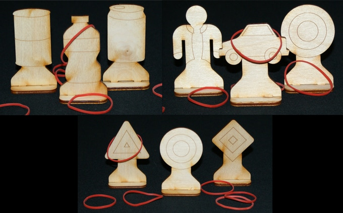 Shooting Gallery reward includes all 3 target sets and 100 rubber bands.