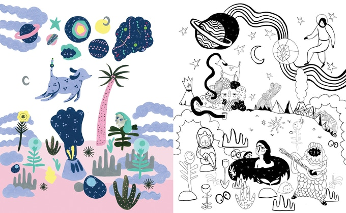 Double page spread by Steph Moulden