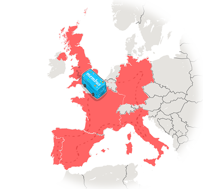 The route we'll take across Europe in part one of our trip