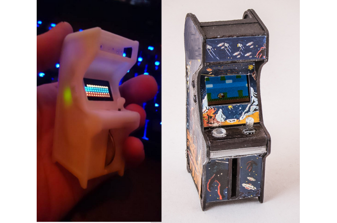 Tiny Arcade A Retro Tiny Playable Game Cabinet By Ken