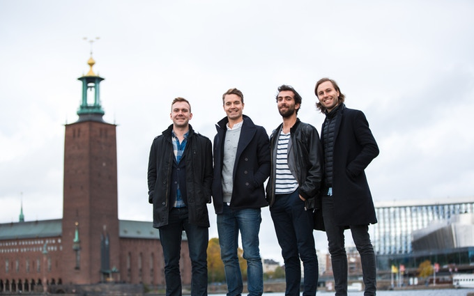 Meet the team, from left Johannes Herrmann, Alexander Hjertström, Mehdi Rejraji and Fredrik Kempe.