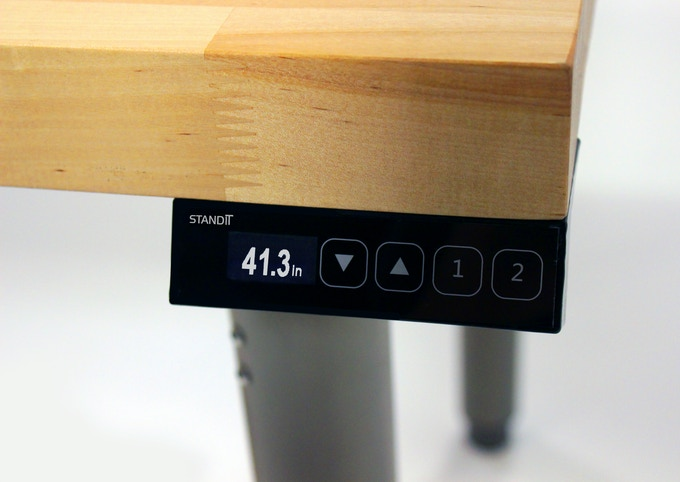 StandiT - High Resolution Control Panel - 128x64 px OLED display - Capacitive buttons