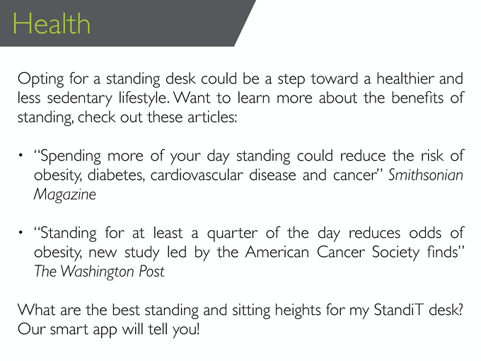 Click here for more information on health related benefits.