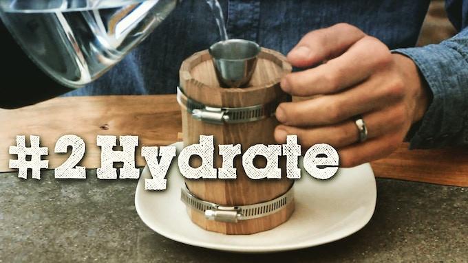 Step 2 - Hydrate the barrel.