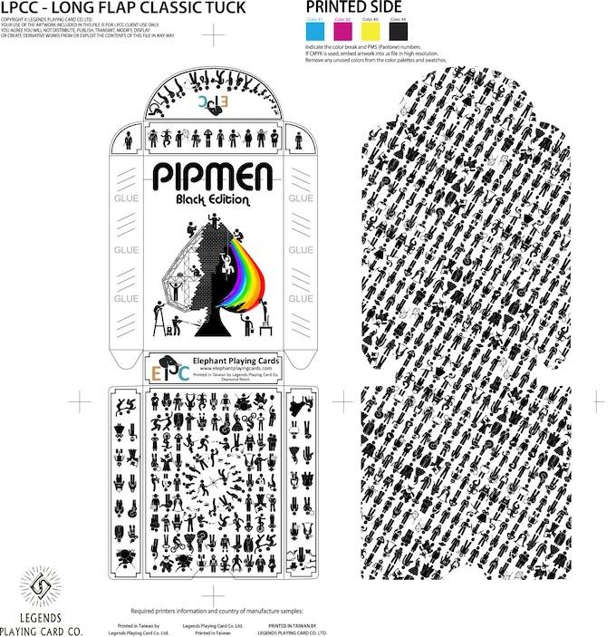 Black tuckbox and interior printing pattern (stretch goal)