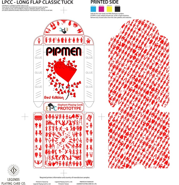 Red tuckbox and interior printing pattern (stretch goal)