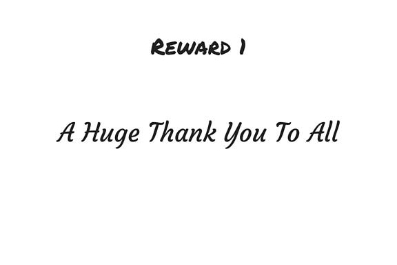 Reward 1.... Pledge €5