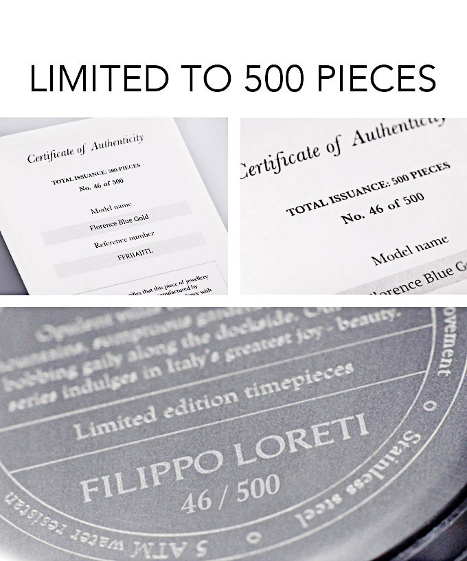 Your watch will be individually engraved and will come with a Certificate of Authenticity