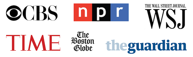 Our Favorite Press Coverage - CBS, NPR, The Wall Street Journal, Time Magazine, The Boston Globe, & The Guardian