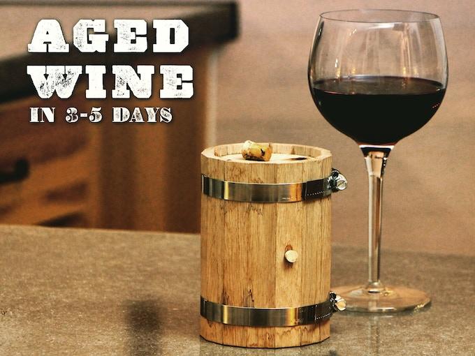 Create custom aged wine in 3-5 days.