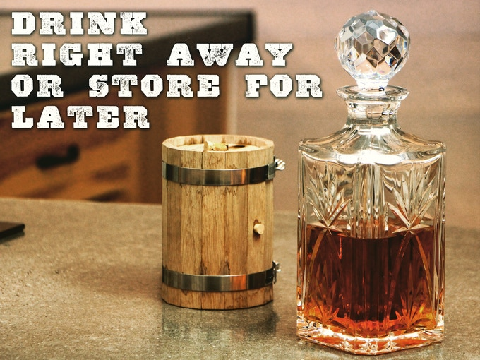 Drink right away or store for later.