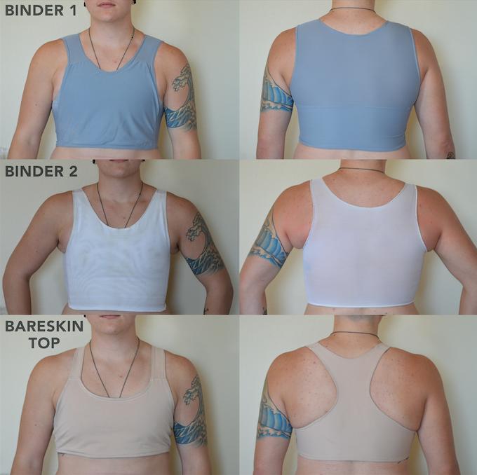 Bareskin Top: Transmasculine Swim Binder by FLAVNT