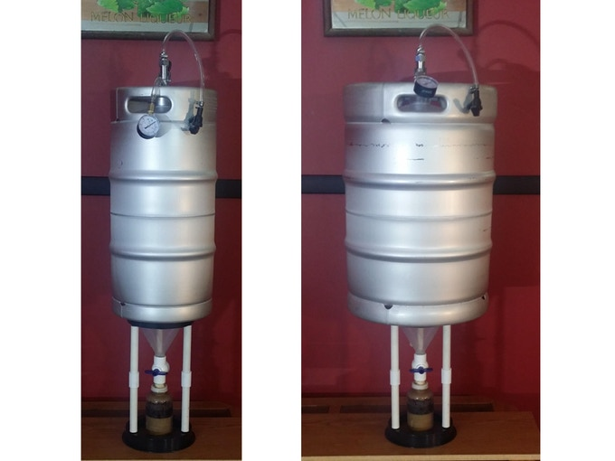 Pico Brew Conical Fermentor For Small Batches Of Beer By