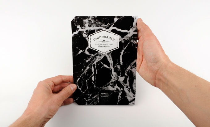Black Marble Leftybook - A5 Size