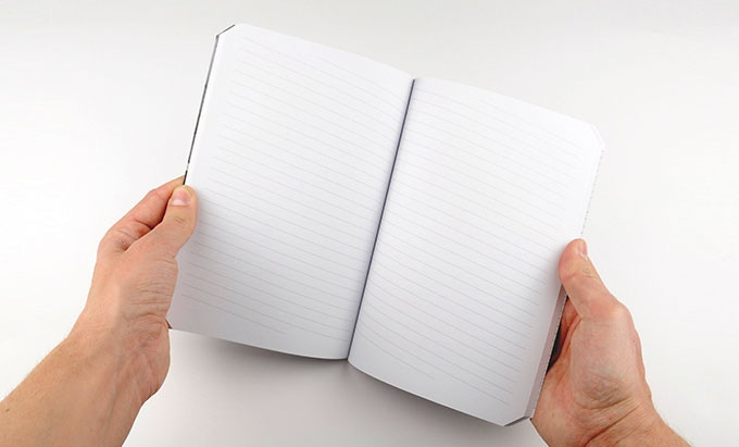 Leftybook - A5 Size - Slightly Slant-Ruled Paper View