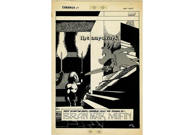 BP 40 - Cerebus No.5 cover (1978)