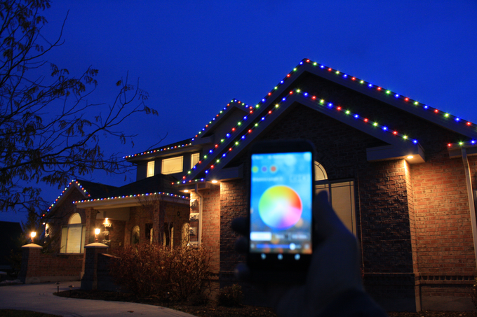 shouldnt christmas lights just happen with a simple touch of a button we - Home Christmas Lights