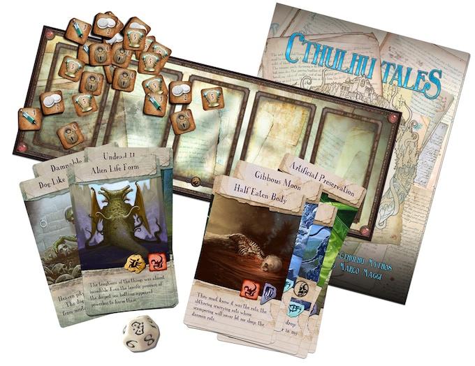Contenido del juego de cartas Cthulhu Tales