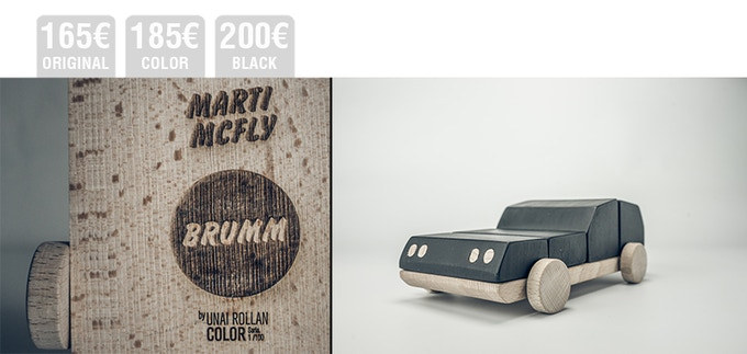 PERSONALIZED ENGRAVING for Brumm in BLACK, COLOR or ORIGINAL . You can choose the engraving you want for the base (name or phrase) adding sense of belonging to this unique design object.