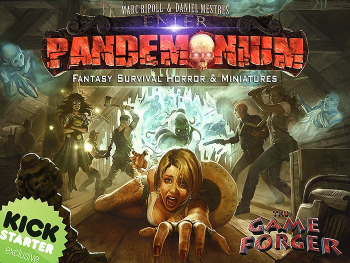A survival horror boardgame with miniatures. No zombies here, just classical horror with all kind of evil creatures and a lot of fun.