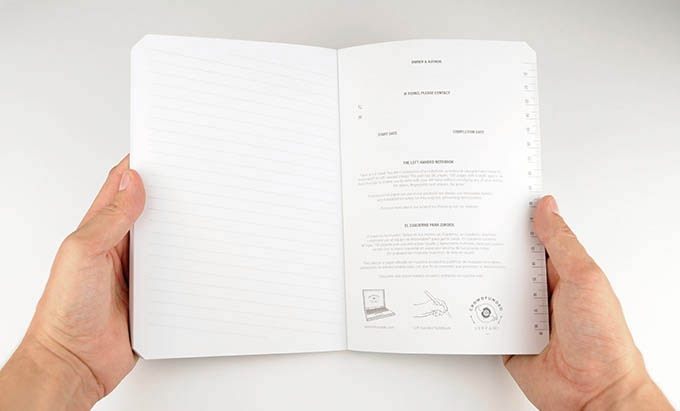 The opening of the Leftybook has the left hand as the protagonist, opening from left to right.