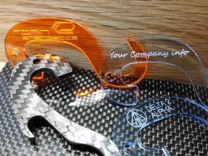 With The Event Pack, engrave your company logo on our NEW colors, Amber, Ice and Smoke!