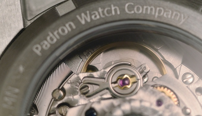 Close up of the Top Grade ETA 2824-2 with Incabloc shock protection system