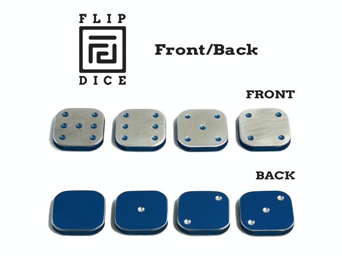 Front/Back view of Standard Flip Dice