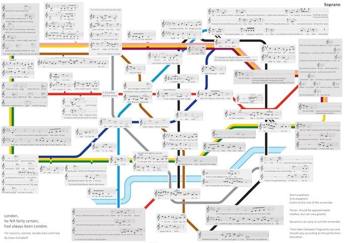A map score by Ewan Campbell