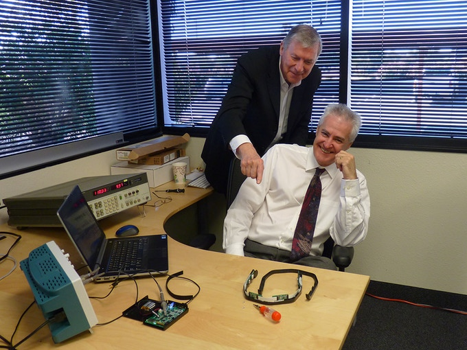 Founder & CEO, Lee Gerdes with Director of  Hardware Engineering, Gil Smith