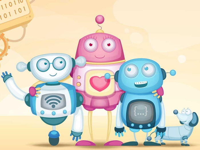 JSON and WiFi are two robot brothers, who want to be nerdy just like their mother. A board book and animated eBook teaching binary.