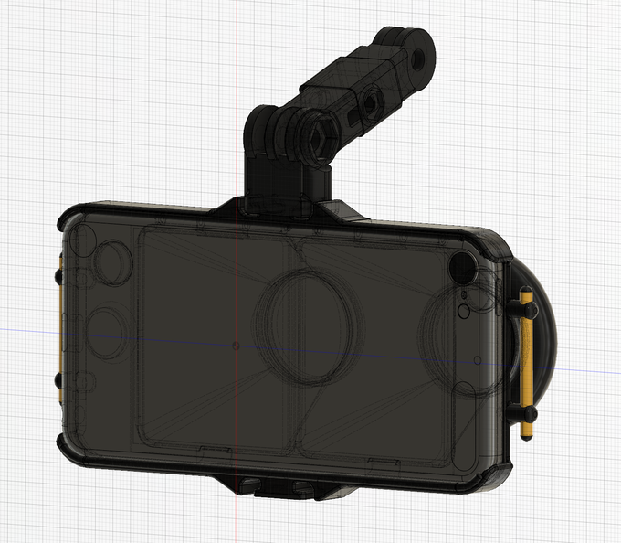 CAD drawing of the NEODiVR xTREME Back
