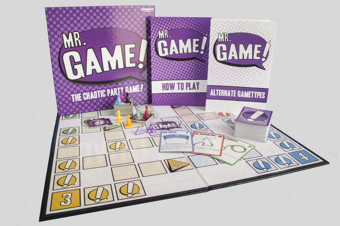 Change the board, change the goal, change the rules. Explore and push the boundaries of play in this constantly changing party game.