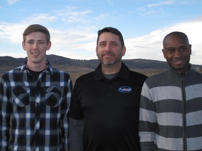 Team Rocketship (left to right) Garrett, Coby and Aziz