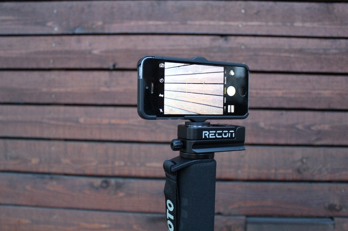Phone cases with .25-20 thread can mount to the Recon too!